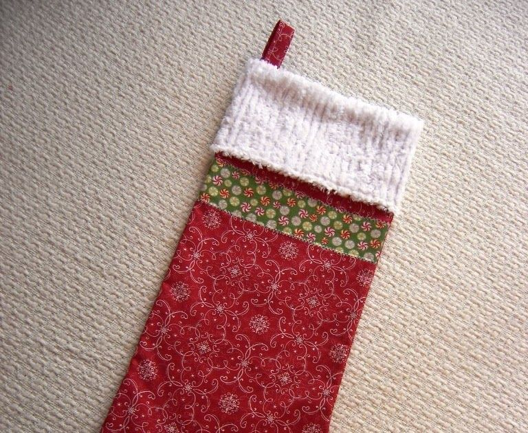 Everyday Celebrations Tutorial Lined Christmas Stocking
