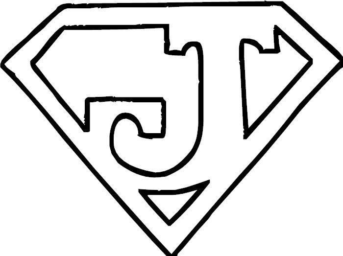 Letter J Looks Like Superman Emblem Lettering Alphabet