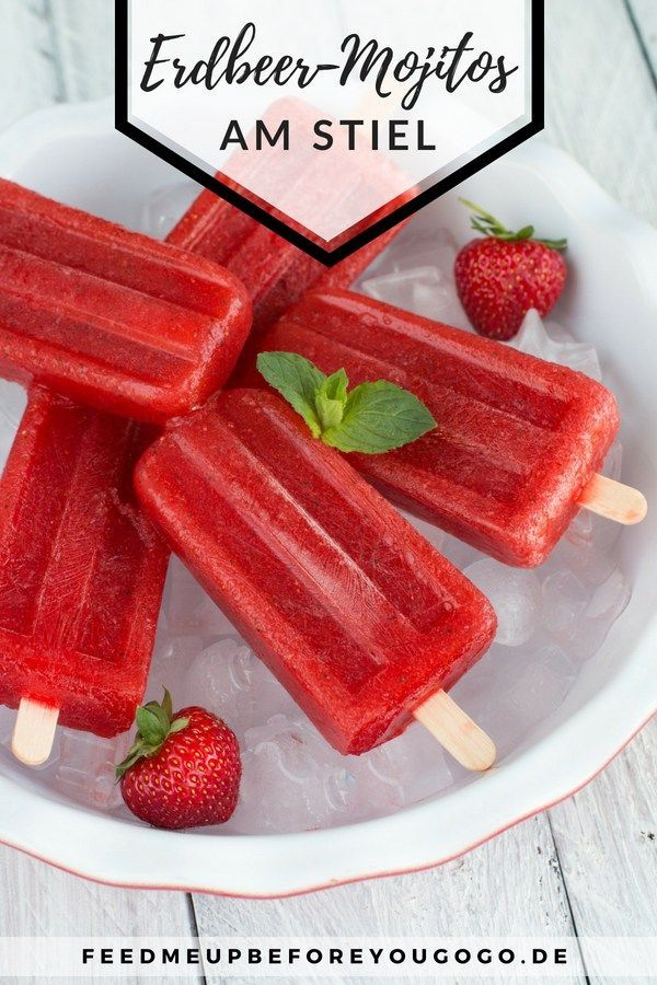 Sommerdrink am Stiel: Erdbeer-Mojito-Popsicles