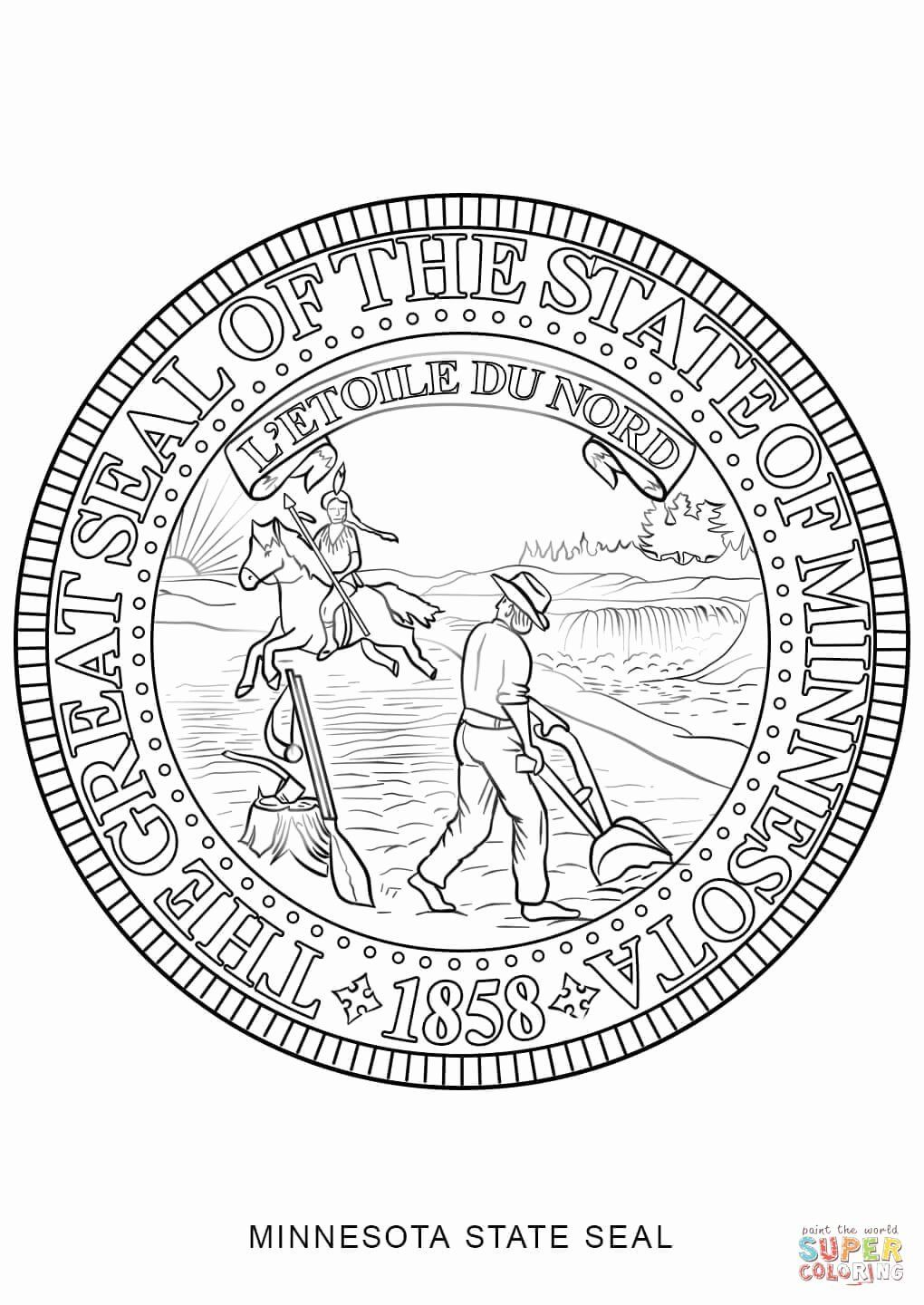 Montana Flag Coloring Page Lovely Minnesota State Seal Coloring Page Flag Coloring Pages Coloring Pages Minnesota State Flag