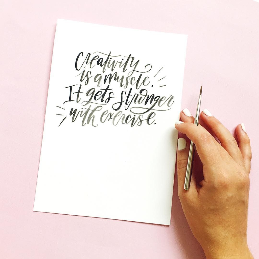 Creativity Is A Muscle It Gets Stronger With Exercise By