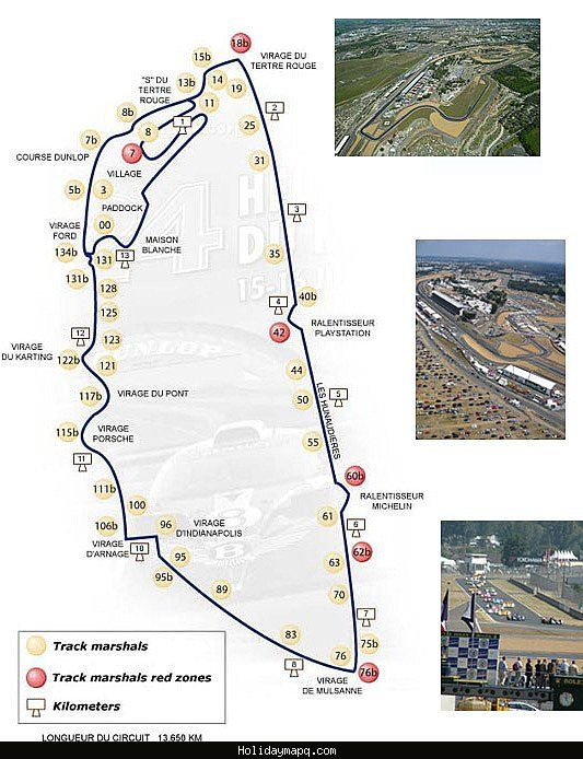 Le Mans Circuit Map cool Map of Le Mans | Holidaymapq | Le mans, F1 racing, Map
