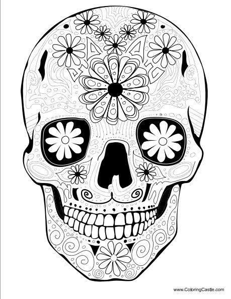 http://www.coloringcastle.com/diadelosmuertos_coloring_pages.html ...