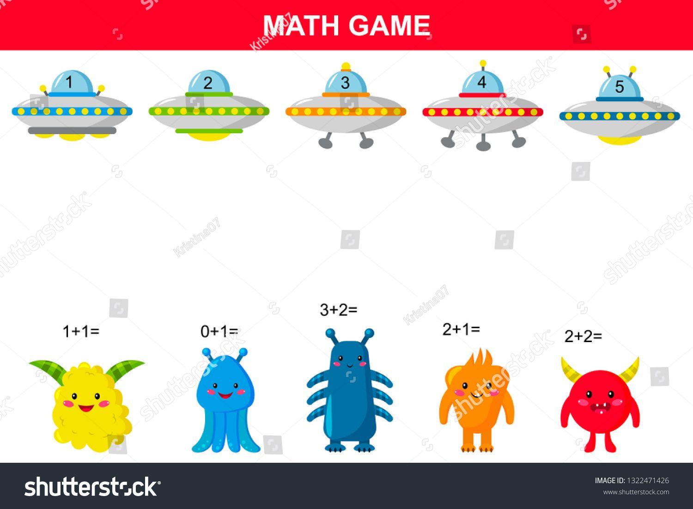 Math Educational Game For Kids Printable Addition