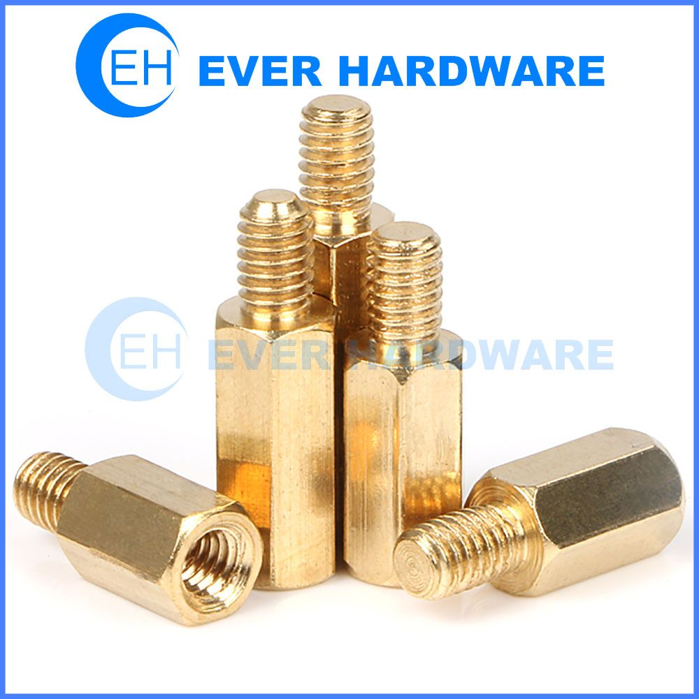 Standoffs Pc Computer Case Screws Motherboard Risers Brass Jack Scr Copper Brass Hexagon Cylinder Head