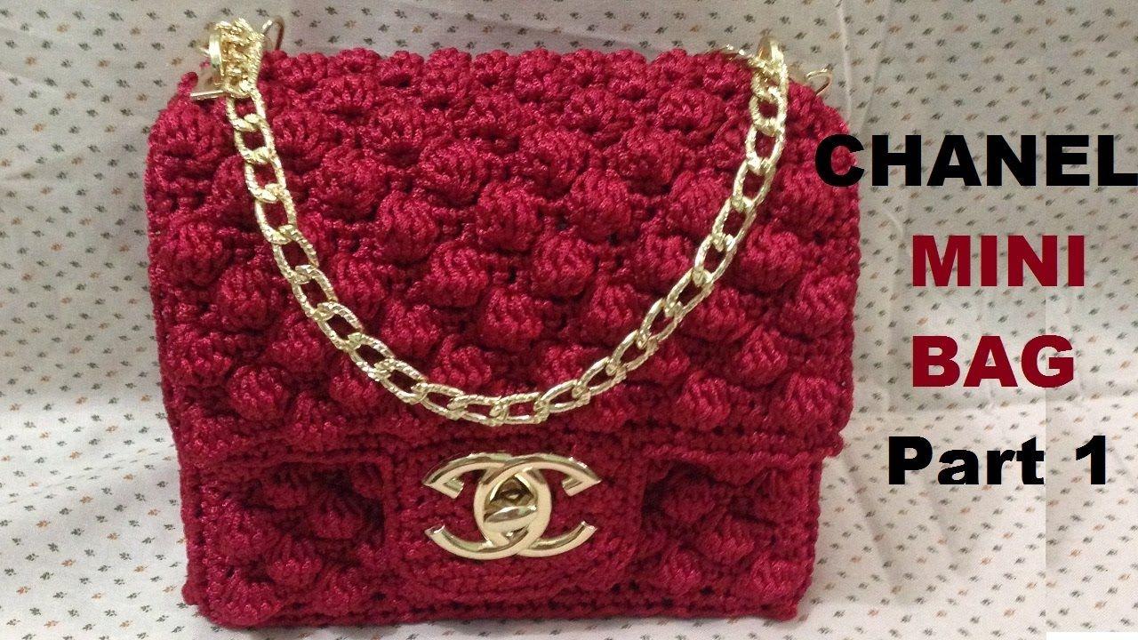How to crochet CHANEL Mini Bag Part 1 - Hướng dẫn móc túi Chanel mini P1 3d3c22c07a0