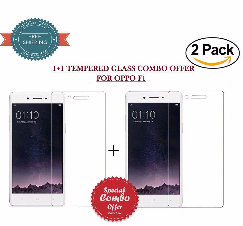 Combo Offer 1 Premium Quality Tempered Glass For Oppo F1 Ebay Full Cover