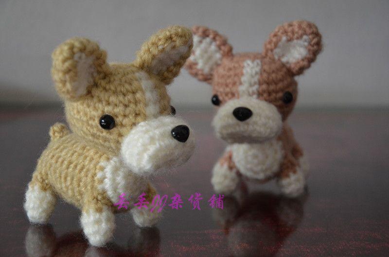 Juguete del perro de lana Corgis juguetes de peluche de felpa Animales Artesanías hechas a mano muñeca perro perro a mano en crochet Tejida a mano en Animales de Peluche de Juguetes y AFICIONES en AliExpress.com   Grupo Alibaba