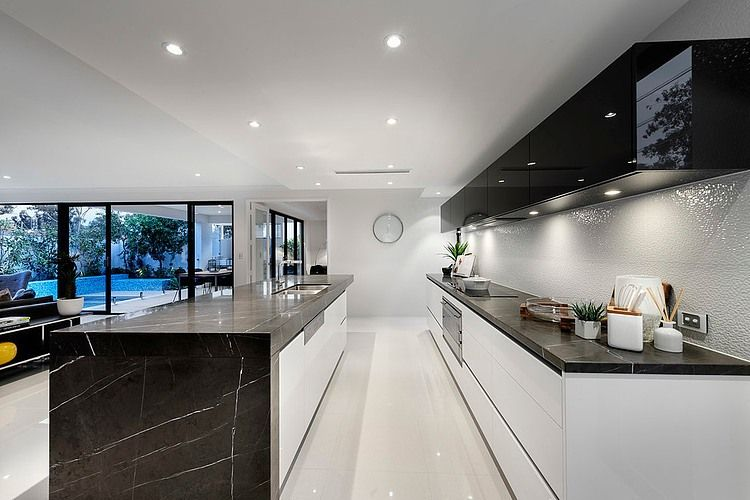 Medallion by Webb - contemporary black and white kitchen Kitchens