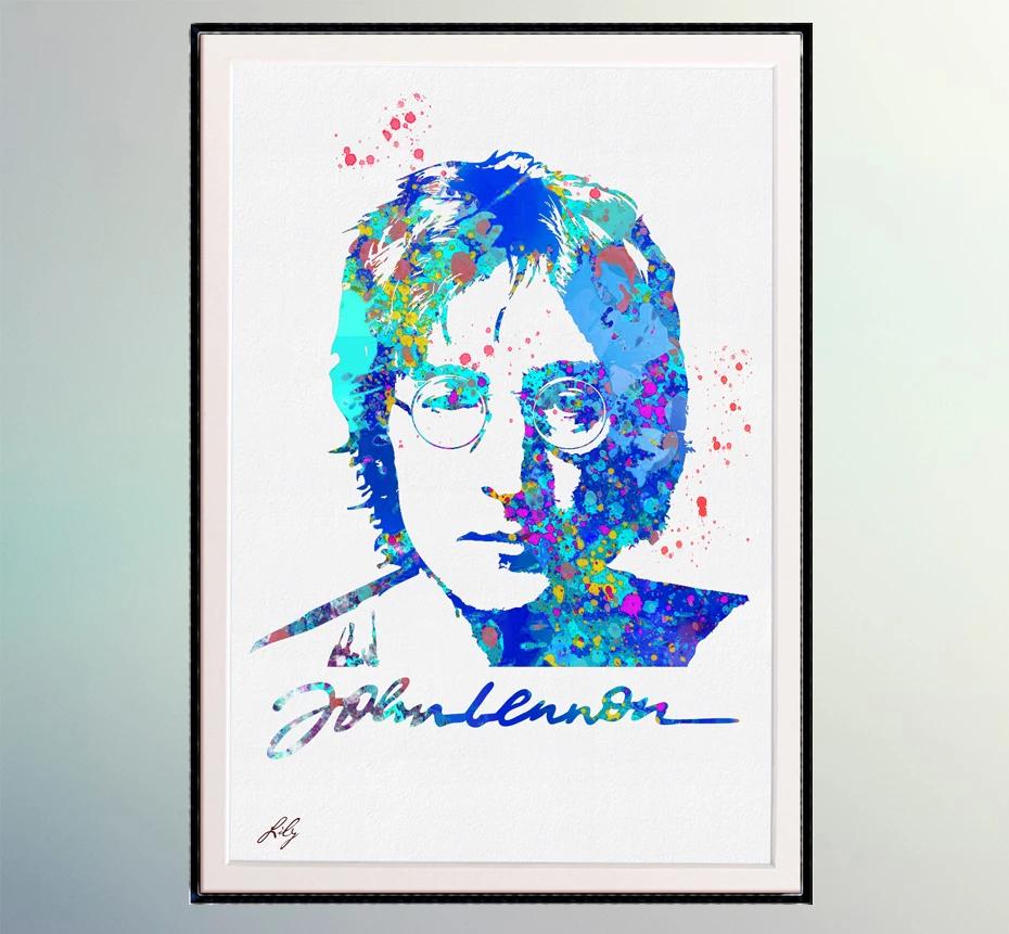 John Lennon With His Signature Poster Poster Artwork John Lennon Wall Poster
