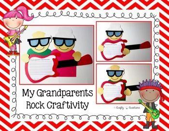 Grandparent's Day Craft {My Grandparent's Rock} #grandparentsdaycrafts