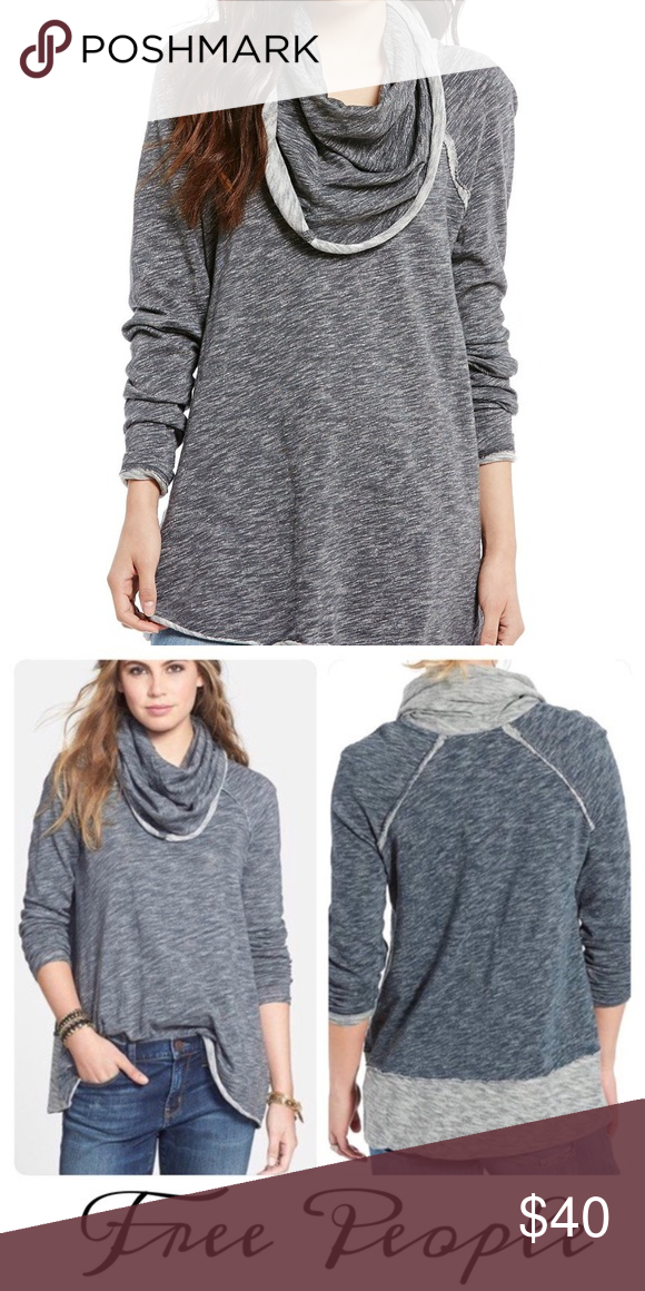 6a75a2f5e0 Free People Beach Cowl Cocoon Pullover Sweatshirt Free People FP Beach  Cocoon Cowl Neck Pullover Sweatshirt