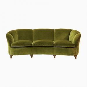 Italian Art Deco Shell Sofa, 1940s