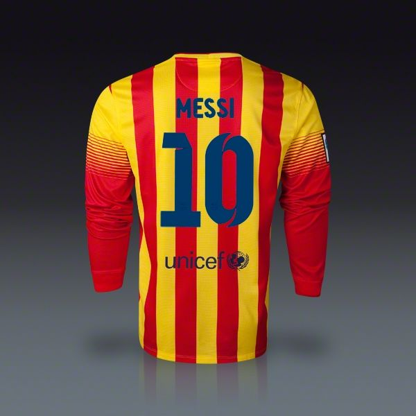 separation shoes 1efcd e92b5 Nike Lionel Messi Barcelona Long Sleeve Away Jersey 13/14 ...