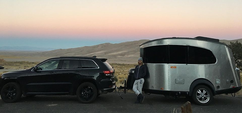 Digital nomads Finn Kelly and Sarah Reigelhuth dream of traveling the country in an Airstream comes true with the new Basecamp®. Let the adventure begin!