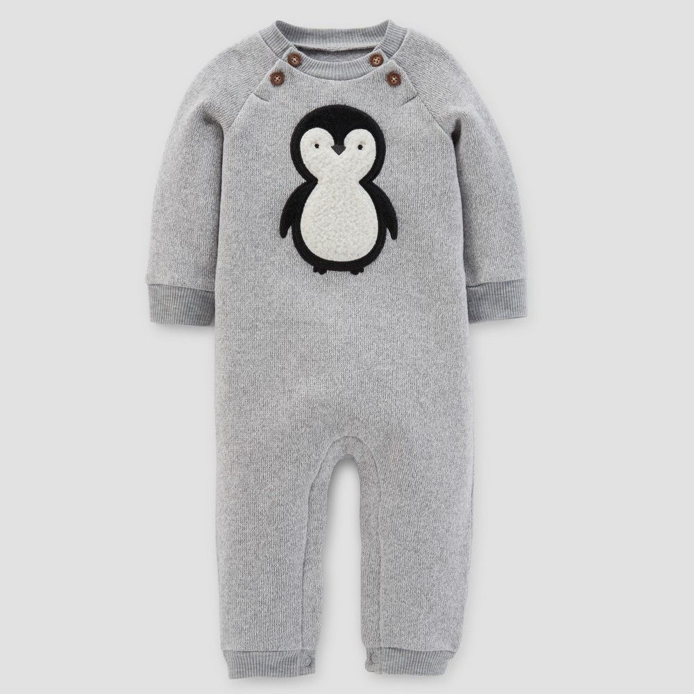 Baby Boys Penguin Jumpsuit Just One You Made By Carter S Gray