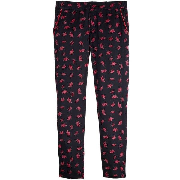 J.Crew Piamita Brigitte Pant (€335) ❤ liked on Polyvore featuring pants, capris, elastic waist pants, elastic waistband pants, j crew pants, stretch waist pants and silk trousers