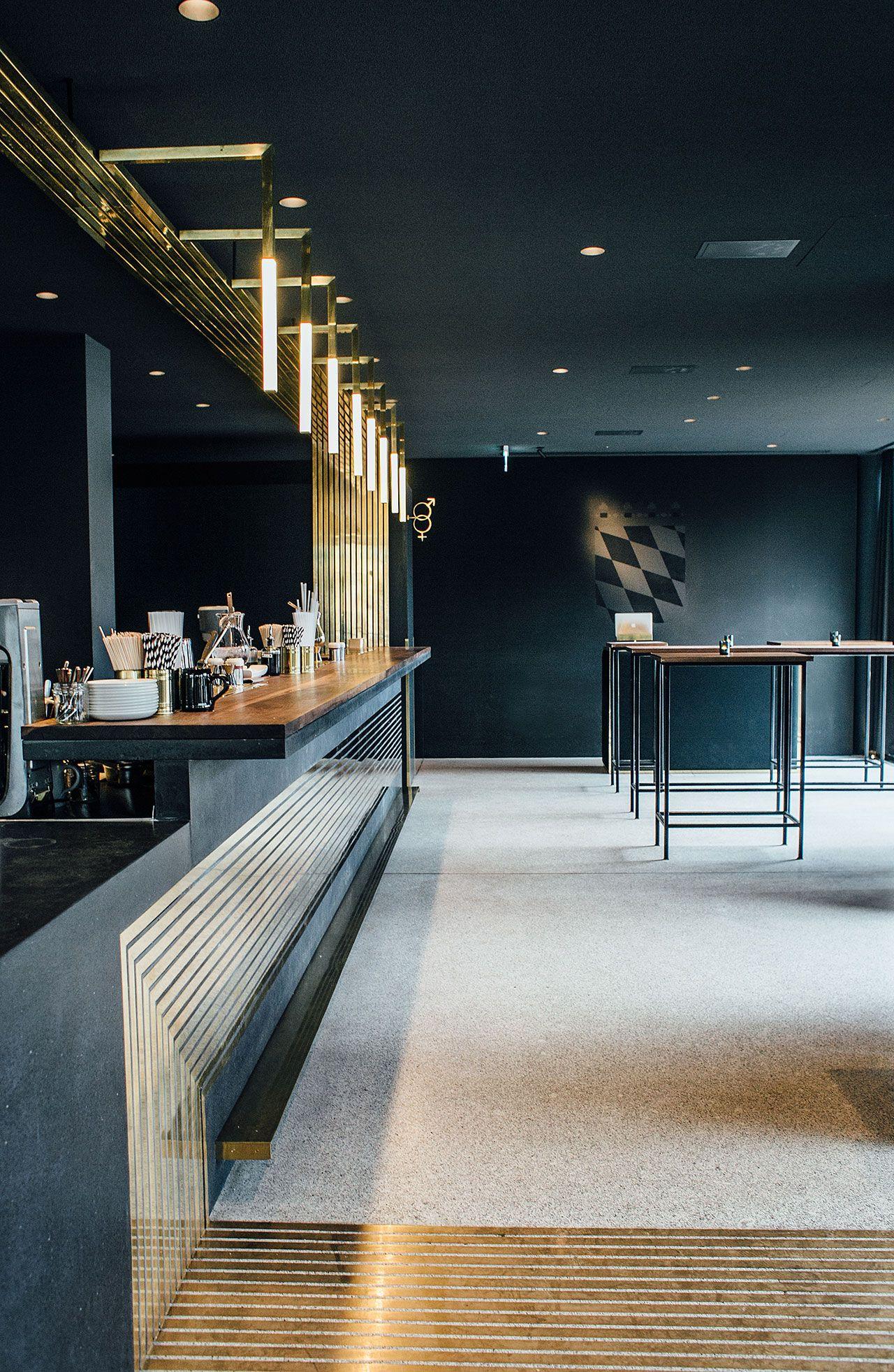 modern bar lighting. Midcentury Timeless Touches Dramatically Frame The Modern Bar In Munich | Bar, Restaurants And Restaurant Design Lighting R
