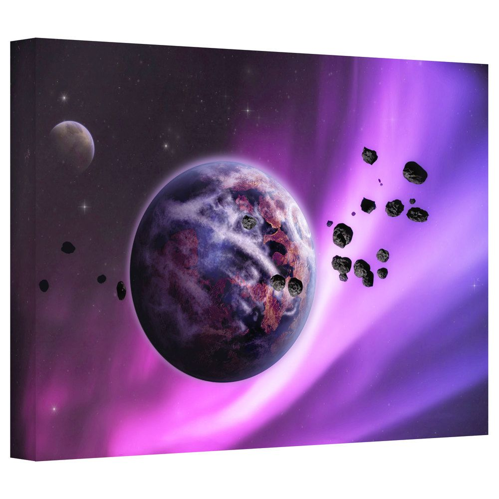 Dragos Dumitrascu 'Deep Purple Space' Gallery-wrapped Canvas Art | Overstock.com Shopping - The Best Deals on Canvas