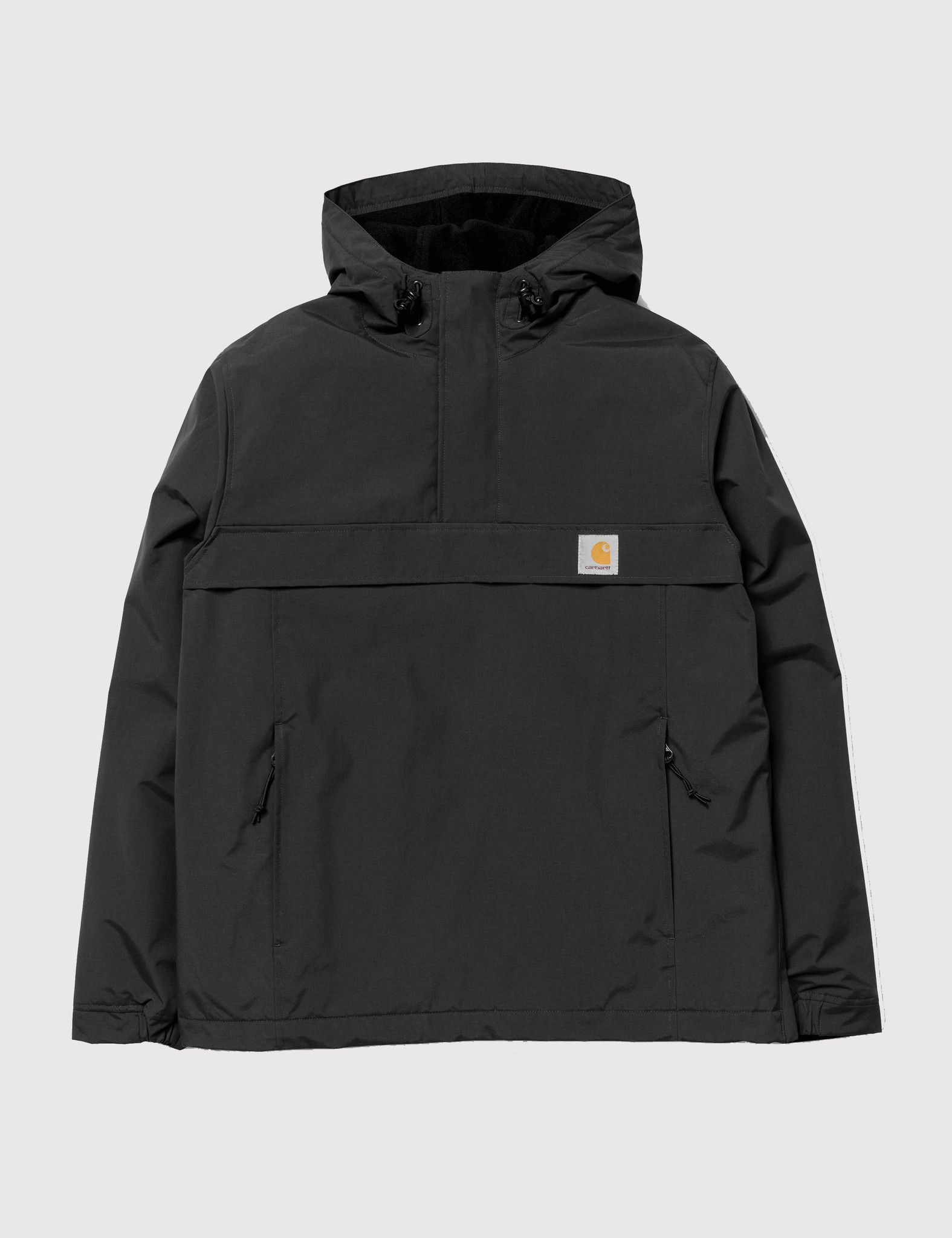 Para estrenar ff73c a5f86 Carhartt Nimbus Half-Zip Jacket (Fleece Lined) - Black ...