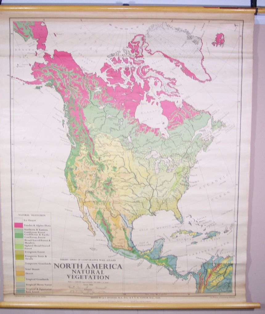 Philipss Series of Comparative Wall Atlases North American