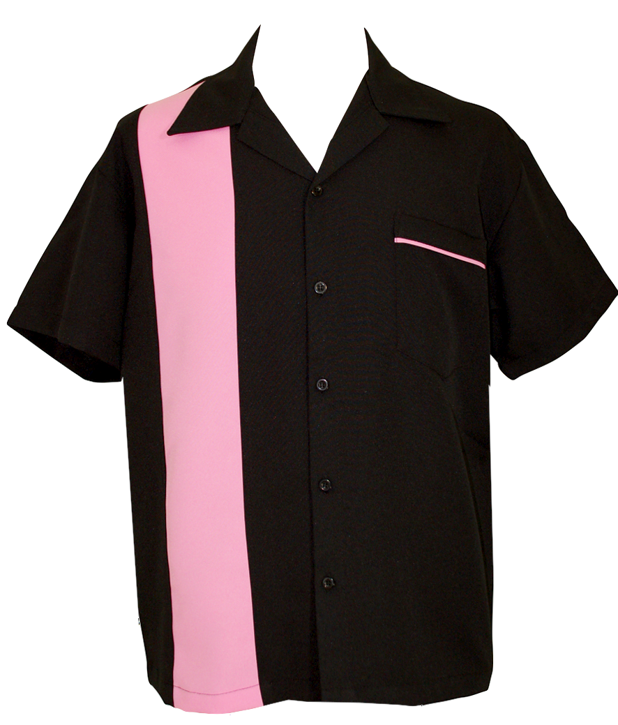 47aad47e2f6 Hot Pink Button Up Bowling Shirt   Black and Pink Shirt in 2019 ...