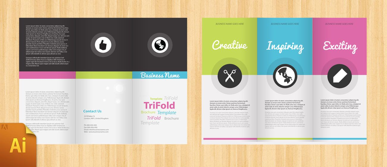 Free corporate tri fold brochure template tri fold for Indesign trifold brochure template