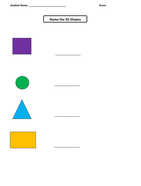 Shapes Worksheets For Kids Free