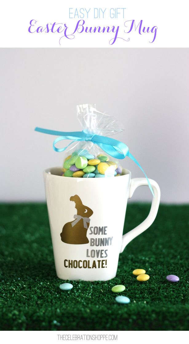 Easy diy easter gift some bunny loves chocolate mug easter easy diy easter gift some bunny loves chocolate mug easter bunny and chocolate negle Image collections