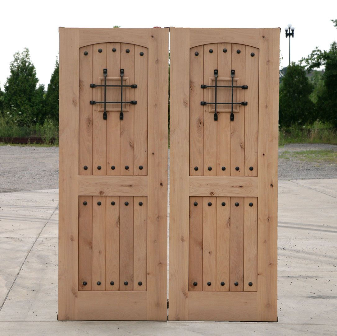 back doors for homes | Rustic Double Doors Closeout Sale ...