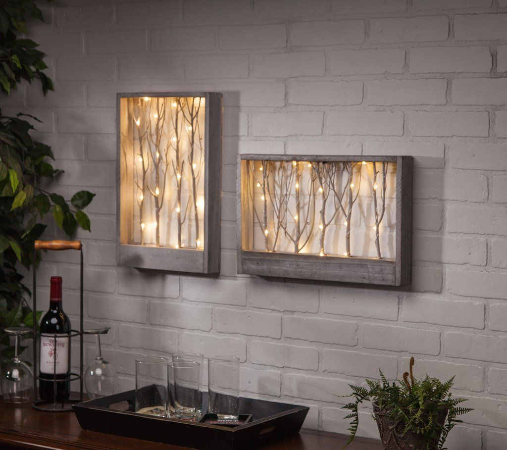 Lighted Branch Wall Table Decor This Lighted Wall Art Adds The Perfect Touch To Any Living Space Use These In Your H Wall Table Decor Diy Wall Art Home Decor