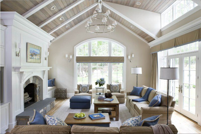 The Most Popular Living Room Photos Of 2016 Ben Yu Linkedin Vaulted Ceiling Living Room Living Room Ceiling Family Room Design