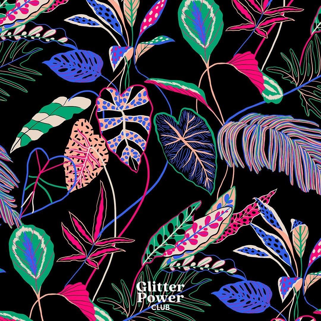 Naïma sur Instagram: Serious jungle 🌿  #patterndesign #surfacepatterdesigner #drawing #patternlove #illustration #design #textiledesign #art #inspiration…