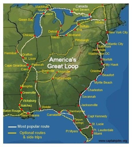 Buying a Boat for The Great Loop | Looping | Cruise america ... on great lakes sailing, caribbean sailing, the great loopers,