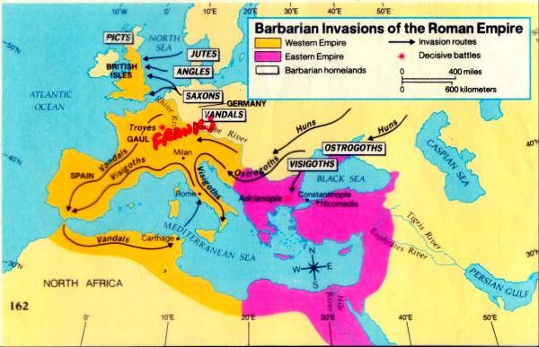 map of barbarian invasions of roman empire Barbarian Invasions Of The Roman Empire Roman Empire Barbarian map of barbarian invasions of roman empire