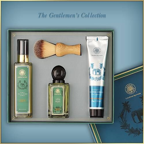 While every bride starts her beauty rituals as early as 3 months, Men, you must not be far behind! With your work schedule use the convenient, all natural Sandalwood & Orange Peel shaving cream in the morning followed by After Shave Spray and a Facial Moisturizer. Or simply gift the groom-to-be this collection in a handsome gift box.