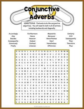 Esl Literacy Worksheets Word Conjunctive Adverbs Word Search Puzzle  Conjunctive Adverb Word  Area Word Problems Worksheet Word with Superteacher Worksheets Excel Conjunctive Adverbs Word Search Puzzle Fraction Word Problem Worksheet