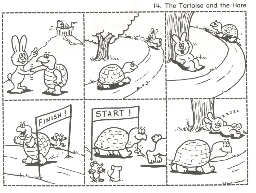 The Tortoise And Hare Sequencing Worksheets Printable Worksheets