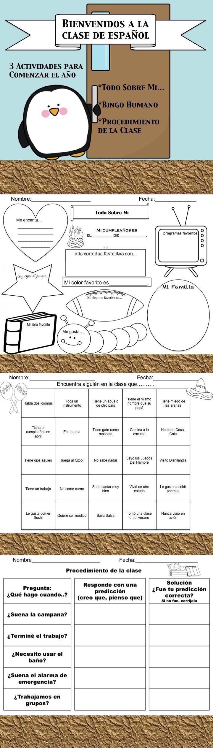 bienvenidos a la clase de espanol worksheets teaching
