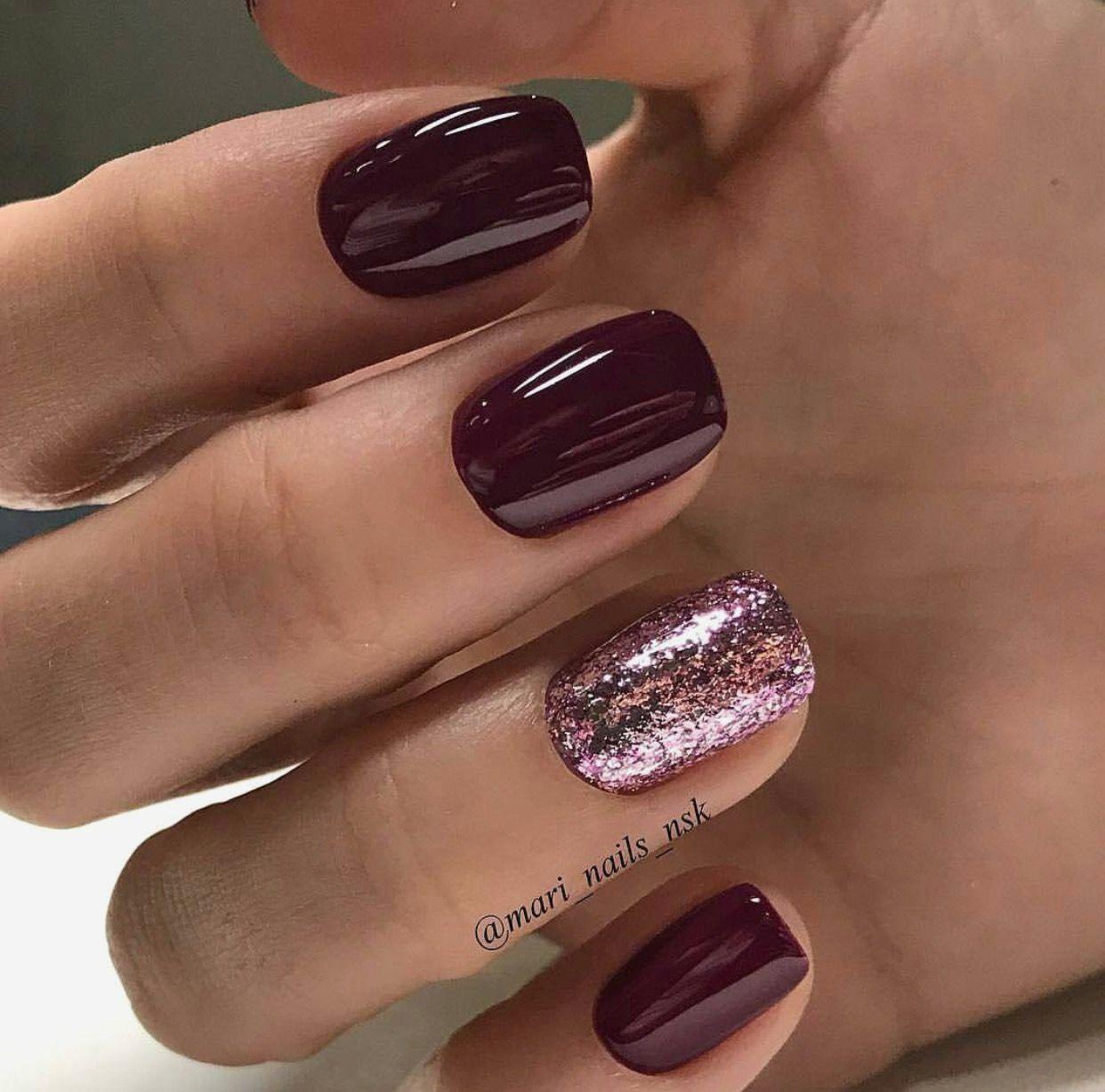 Toe Nail Color Trends 2018 My Blog Wine Nails Nails Short Nail Manicure