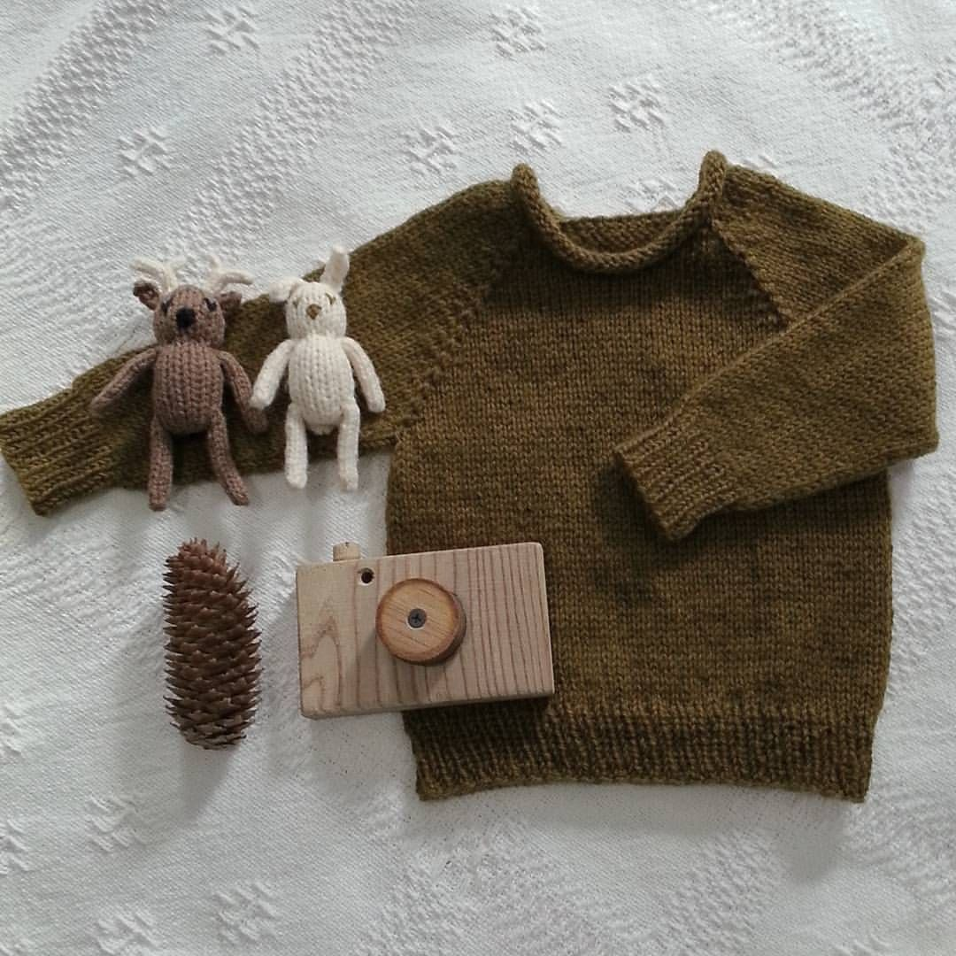 """Photo of @foxandfolk on Instagram: """"Some sweet little handmade things for my baby boy. I loved this knit, and the mossy color of the wool. The wooden camera was made by my…"""""""