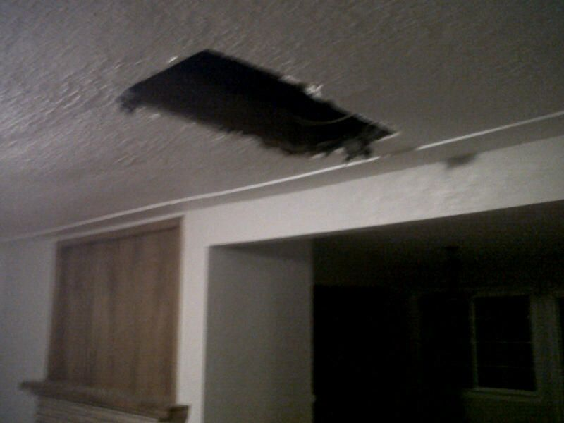 Let this be a lesson to all real estate agents: NEVER let a client follow you up into the attic.