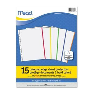Sheet Protectors -- prefer the heavy duty ones, esp. if anti-static ...