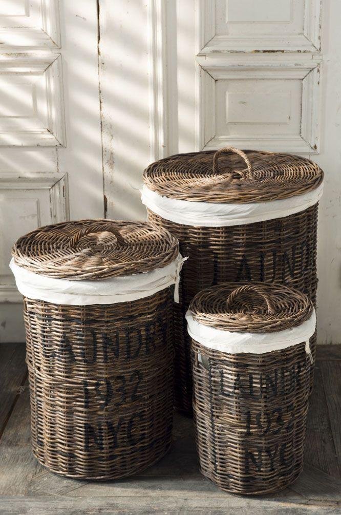 Riviera Maison With Images Wicker Laundry Basket Riviera