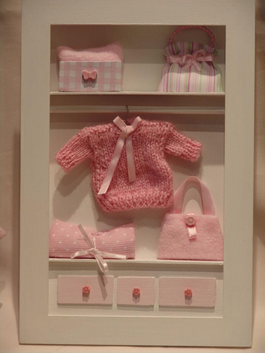 Cuadros para bebes nenas miniaturas con profundidad 3d cuadros pinterest bebe nena y - Cuadros para habitacion bebe ...