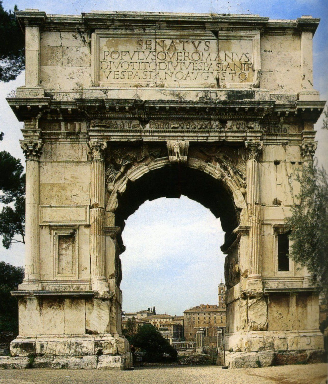 81 L Arc De Titus  Rome  The Arc Of Titus  Rome
