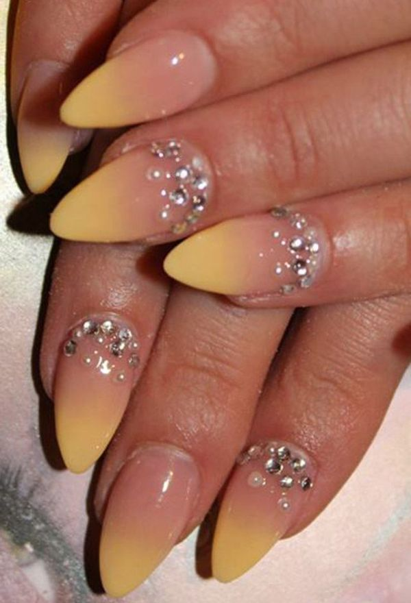 Add rhinestones to your nails for a funky touch! Get your nail ac ...