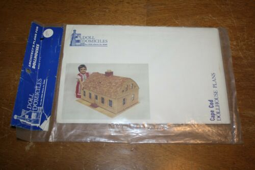 """Doll Domiciles Dollhouse Plans Colonial Williamsburg Scale 1/"""" = 1/'"""