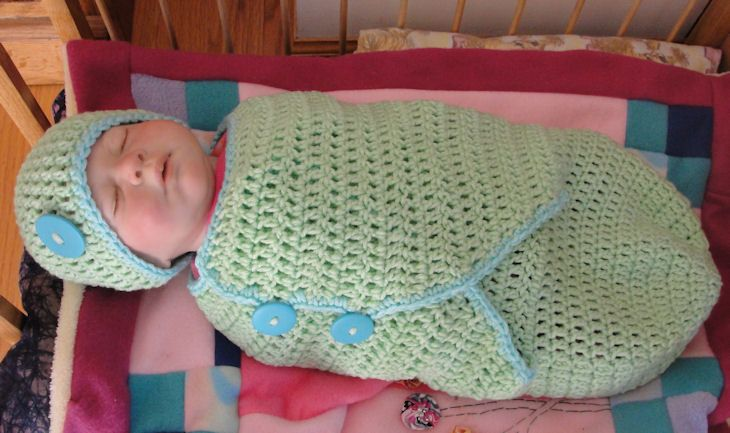 Geometric design baby bunting crochet pattern. It is worked in ...