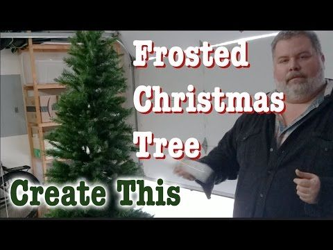 create this frosted christmas tree youtube